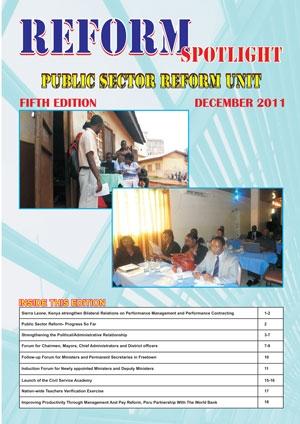 Reform Sportlight - Public Sector Reform Unit