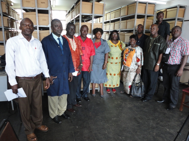 Liberian delegation at the National Archives at Fourah Bay College